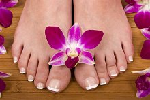 Library Image: Feet with Flower